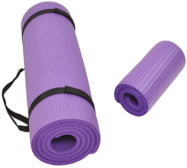 AmazonBasics 1//2-Inch Extra Thick Exercise Mat Purple