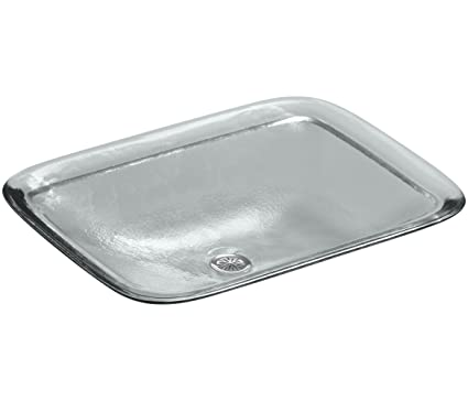 KOHLER K-2773-B11 Inia Wading Pool Glass Drop-In Rectangular Bathroom Sink, Ice