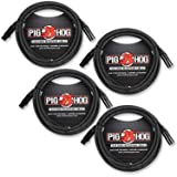 Pig Hog XLR 15 Foot 4 Pack Tour Grade Microphone Cables