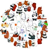 zontor We Bare Bears Frosted Paper Stickers 36pcs,Lovely Stickers of the Three Bare Bears,the best for Children