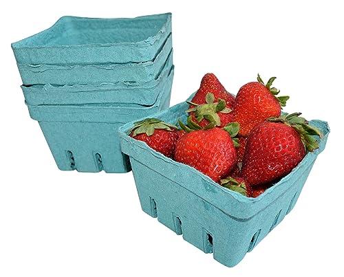 Checkered Tablecloth, Pulp Fiber Berry Baskets