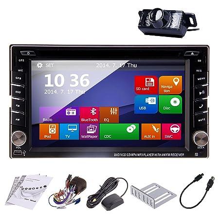 BT Windows 8 Dise?o 6.2 Jefe Unidad pulgadas Double DIN para navegaciš®n GPS doubles 2 DIN universelles 2 DIN EN el tablero de coches VidšŠo CD Audio Radio Auto StšŠršŠo Vehšªculo libre GPS