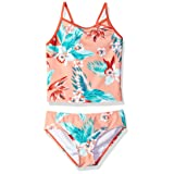 Kanu Surf Girls' Big Melanie Beach Sport 2-Piece Banded Tankini Swimsuit, Alania Floral Coral 14