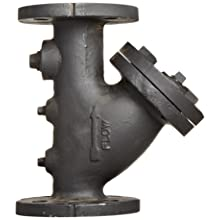 "Flexicraft YIF Cast Iron Wye Strainer with Flange End, 2"" ID x 9-7/8"" Length"