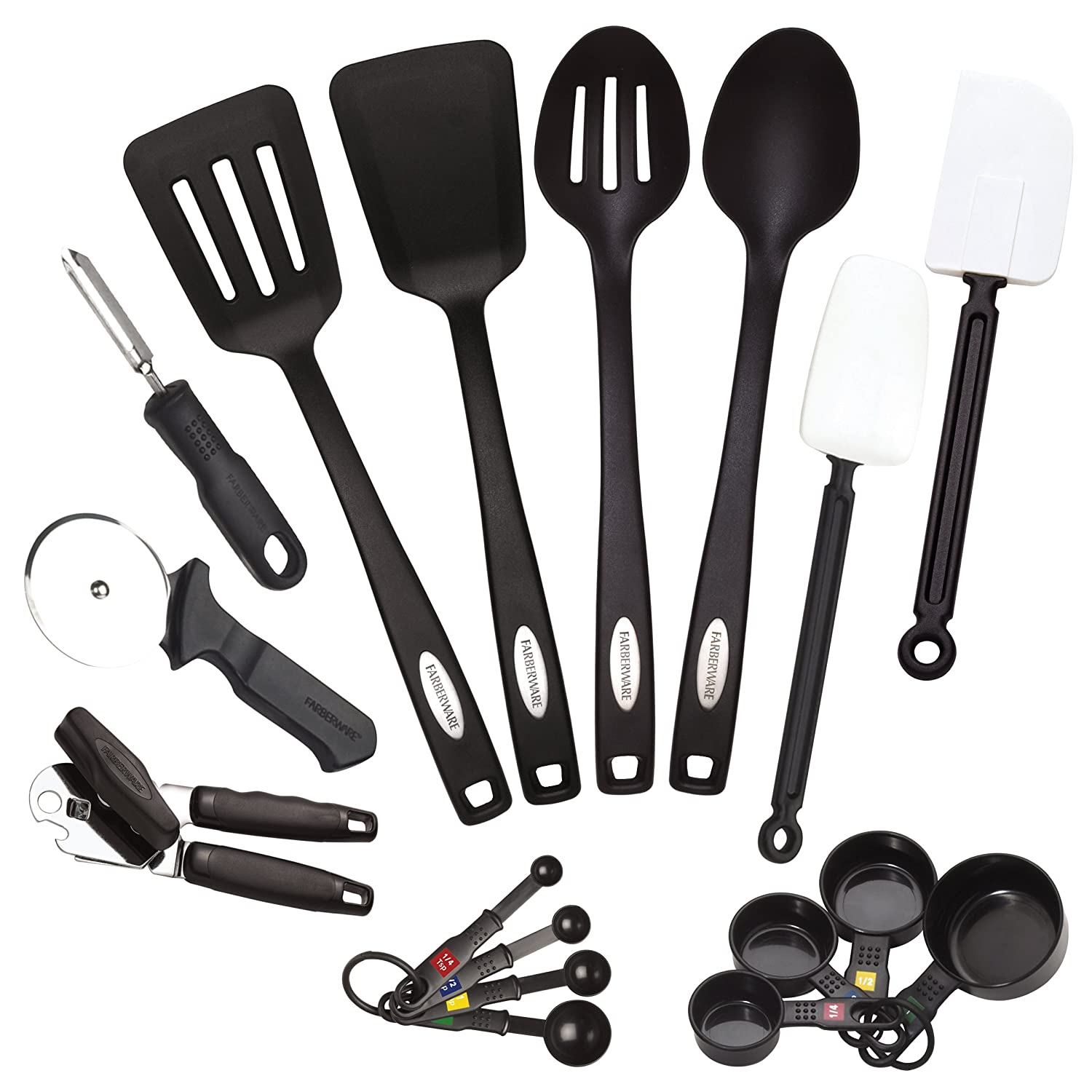 Farberware classic kitchen tools for Kitchen tool set of 6pcs sj
