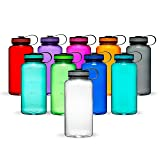 Maars Tritan Wide Mouth 34 oz. BPA-Free Sports Water Bottle | 4 Pack (Color: Clear, Tamaño: 4 Pack)
