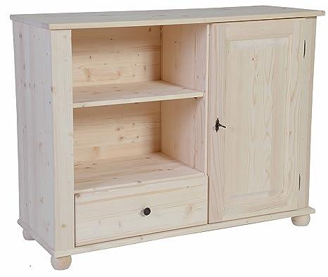 Mueble para televisión de pino en bruto