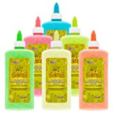 My Slime 6 Color Premium Glow-In-The-Dark Glue Pack (8 Ounce Bottles) - Kid Safe, Non-Toxic, Washable - Superior Formula School Glue for Making Amazing Shimmering Glowing Neon Slime - Fun Creative Art (Tamaño: 6 Color - Glow in the Dark Set)