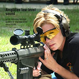 New Electronic Shooting Earmuff, Awesafe GF01 Noise Reduction Sound Amplification Electronic Safety Ear Muffs, Ear Protection, NRR 22 dB, Ideal for Shooting and Hunting (Color: Green, Tamaño: Full Size)