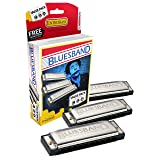 Hohner 3P1501BX Bluesband Harmonica, Pro Pack, Keys of C, G, and A Major (Color: Original Version)