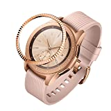 ANCOOL Compatible Samsung Galaxy Watch 42mm/Gear Sport Bezel Ring Adhesive Cover Anti Scratch Stainless Steel Protector Design for Galaxy Watch 42mm/Gear Sport -Rose Gold (Color: Q-04, Tamaño: 42mm)