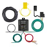 CURT 59236 Multi-Function Splice-in Tail Light Converter with 4 Wire Trailer Wiring Plug, Includes Complete Wiring Kit (Color: Regular, Tamaño: 9 x 3 x 6 inches)