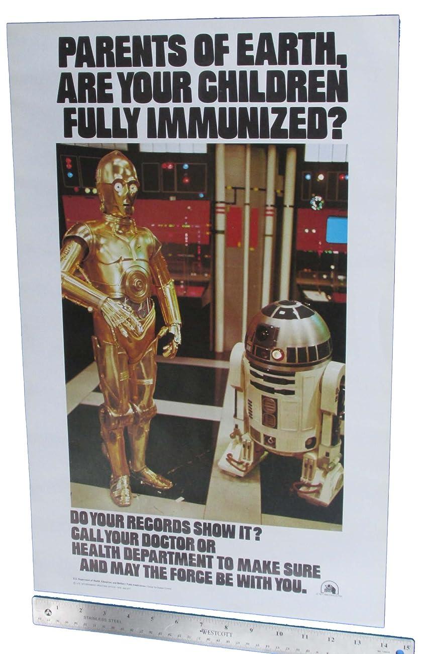 Immunization Poster 1979 Vintage Star Wars C-3PO R2-D2 Original 0