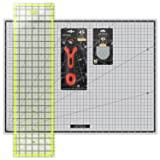 ARTEZA Rotary Cutter Quilting Kit, Set of 4 (6.5X24 Ruler, 18X24 Mat, 45mm Cutter, 45mm Blades 3 Pack) (Tamaño: 18
