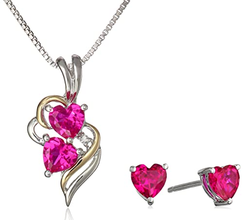 XPY-Sterling-Silver-and-14k-Yellow-Gold-Created-Ruby-Heart-with-Diamond-Accent-Pendant-Necklace-and-Earrings-Set-18-