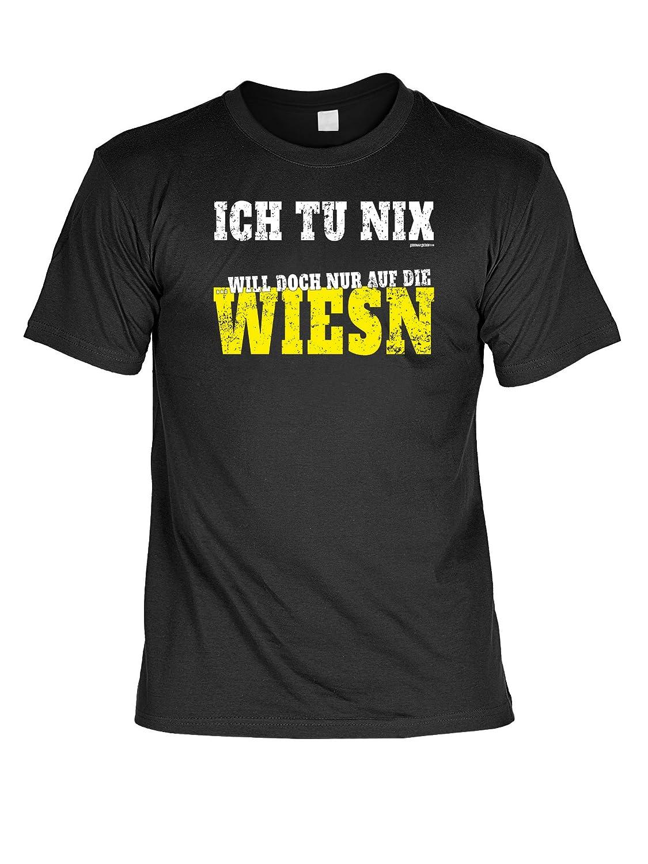 Volksfest T-Shirt Ich tu nix will doch nur auf die Wiesn Wiesn 2015 Tracht T-Shirt zur Lederhosn Volksfest Trachten Outfit Farbe: schwarz günstig kaufen