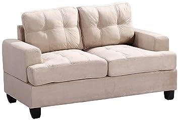 Glory Furniture G511A-L Living Room Love Seat, Beige
