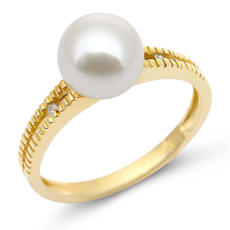 Miore Damen-Ring 9 Karat (375) Gelbgold Diamant 53 (16.9) MG9034RM jetzt bestellen