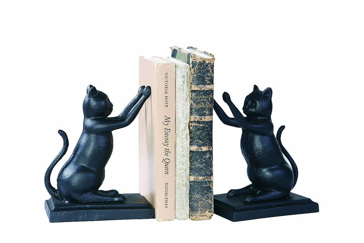 Creative Co-Op Black Cast Iron Cat Bookends