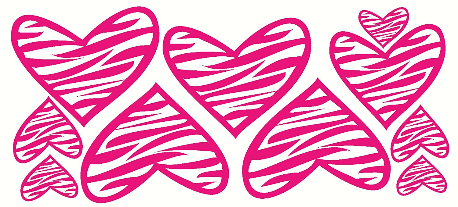 The gallery for pink zebra print hearts - Exciting image of home decoration using pink zebra wallpaper ...