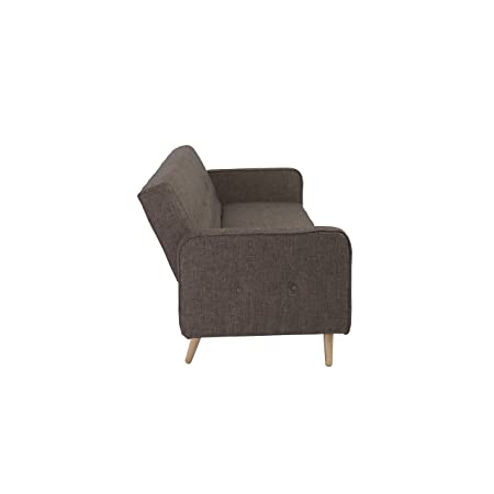 Euro Style Bertram Sofa Bed with Armrest, Brown