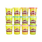 Play-Doh Bulk Spring Colors 12-Pack of Non-Toxic Modeling Compound, 4-Ounce Cans (Color: Spring Colors, Tamaño: 12 pack)
