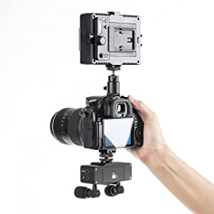 Movo (5 Pack) HM-S5 Camera Shoe to Male Quarter Inch Tripod Mount Adapter to Mount Microphones, Lights and More on to Cameras, DSLR Rigs, Cages and More