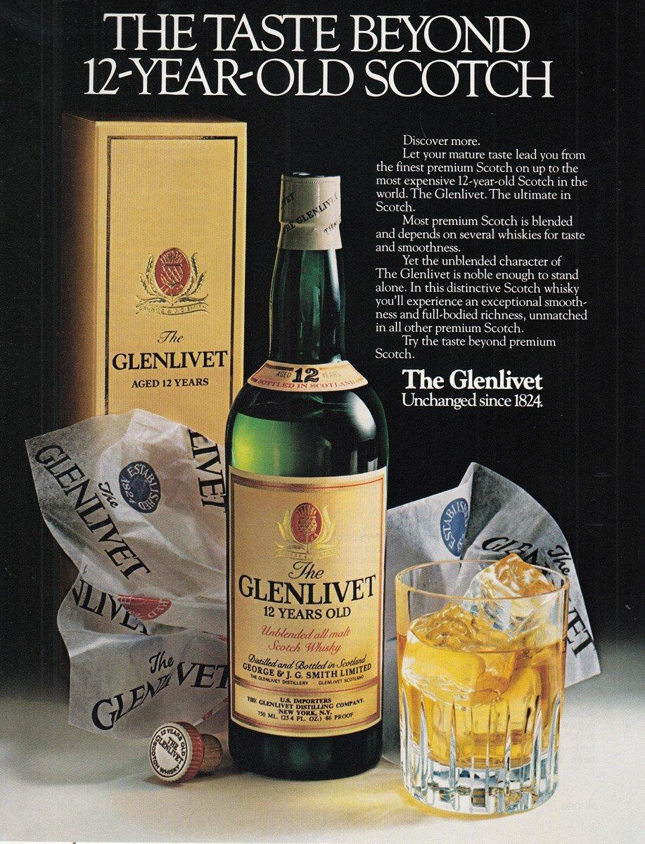 1980 Glenlivet Print Ad