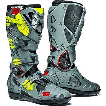 MFIRE2SRS NEGRGIFL - Sidi Crossfire 2 SRS Motocross Boots 47 Black/Grey/Fluro (UK 12)