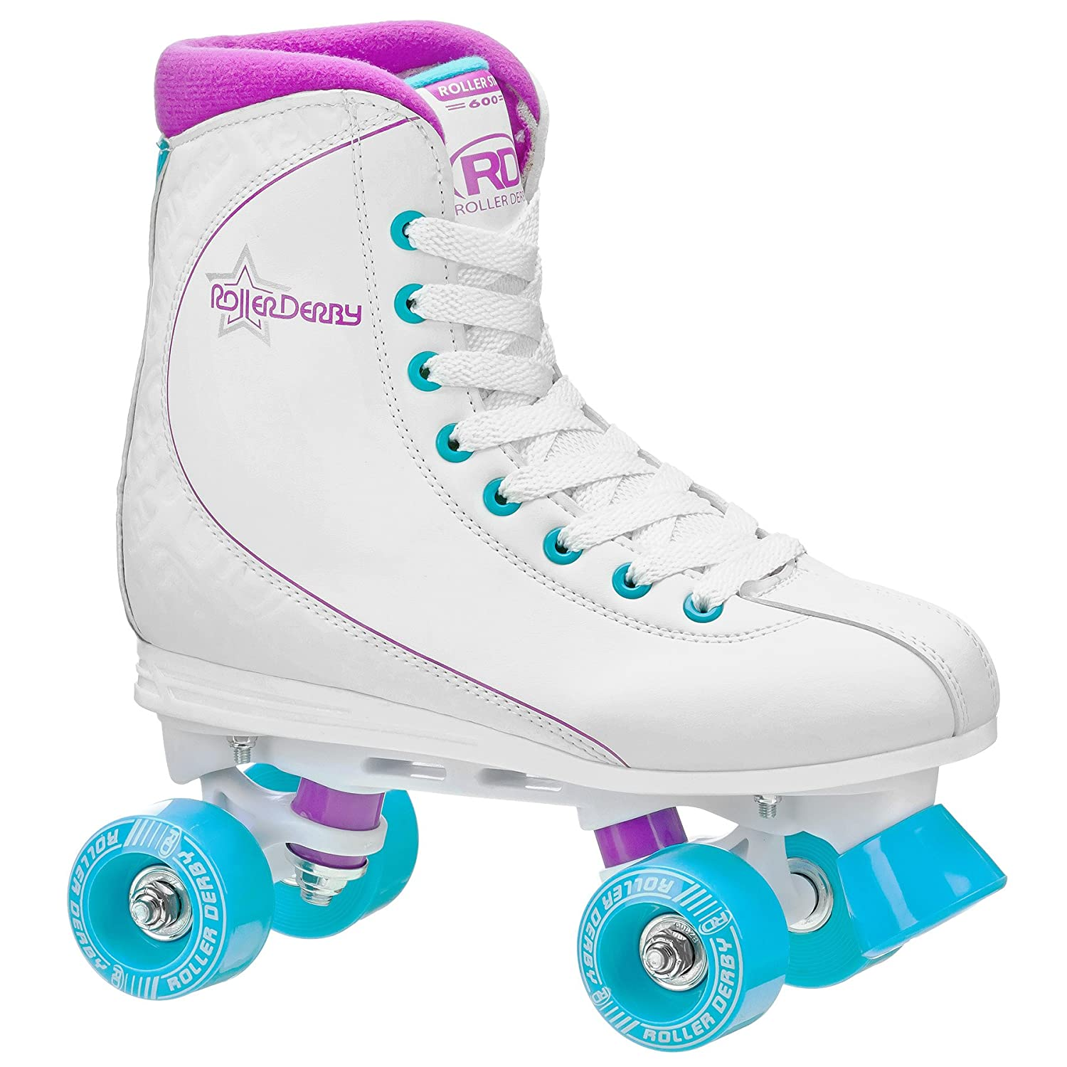 Quad roller skates amazon - Buy Roller Derby U725w 06 Womens Roller Star 600 Quad Skate Size 06 White Lavender Online At Low Prices In India Amazon In