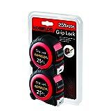 Komelon 6225TW 25' Grip Lock Tape Measures (2 Pack)