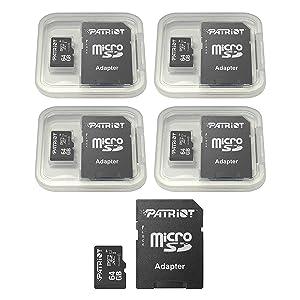 Patriot LX Series 64GB Micro SDXC - Class 10 UHS-I - 5 Pack (Color: black, Tamaño: 64GB 5 Pack)