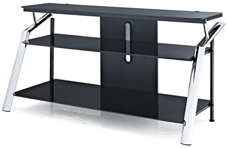 Altra Furniture Chrome and Glass TV Stand