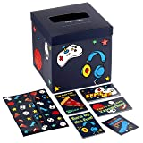 Hallmark Boys' Valentines Day Cards for Kids and Mailbox for Classroom Exchange, Games and Sports (1 Box, 32 Valentine Cards, 35 Stickers, 1 Teacher Card) (Color: Games and Sports, Tamaño: One size)