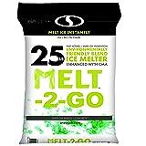 Snow Joe AZ-25-EB Melt-2-Go Nature + Pet Friendly CMA Blended Ice Melter, 25-lb Bag (Color: Green, Tamaño: 25 lb Bag)