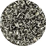 Springfield Leather Company's Nickel Plate Medium Double Cap Rivets 100pk (Color: nickel plate)