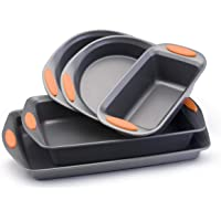 Rachael Ray Oven Lovin' Non-Stick 5-Piece Bakeware Set (Orange)