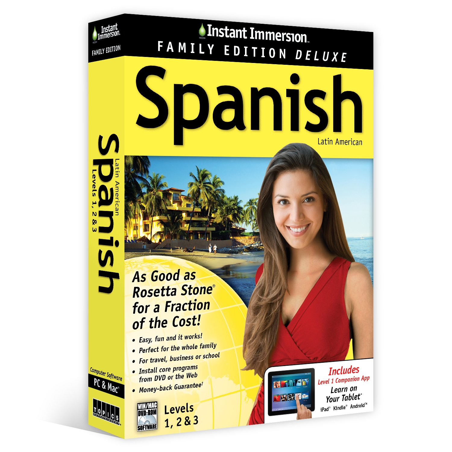 Instant Immersion Spanish Levels 1,2 & 3 Family Edition Deluxe (Unlimited Household Use)