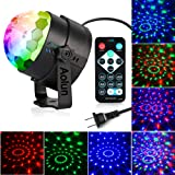 Disco Lights Sound Activated with Remote,Party Lights Disco Ball Light,Stage lights-Multi Colors Rotating Magic LED Strobe Lights for Halloween,Xmas Parties,Room,Pool,Club,Home,Church,Karaoke,Wedding