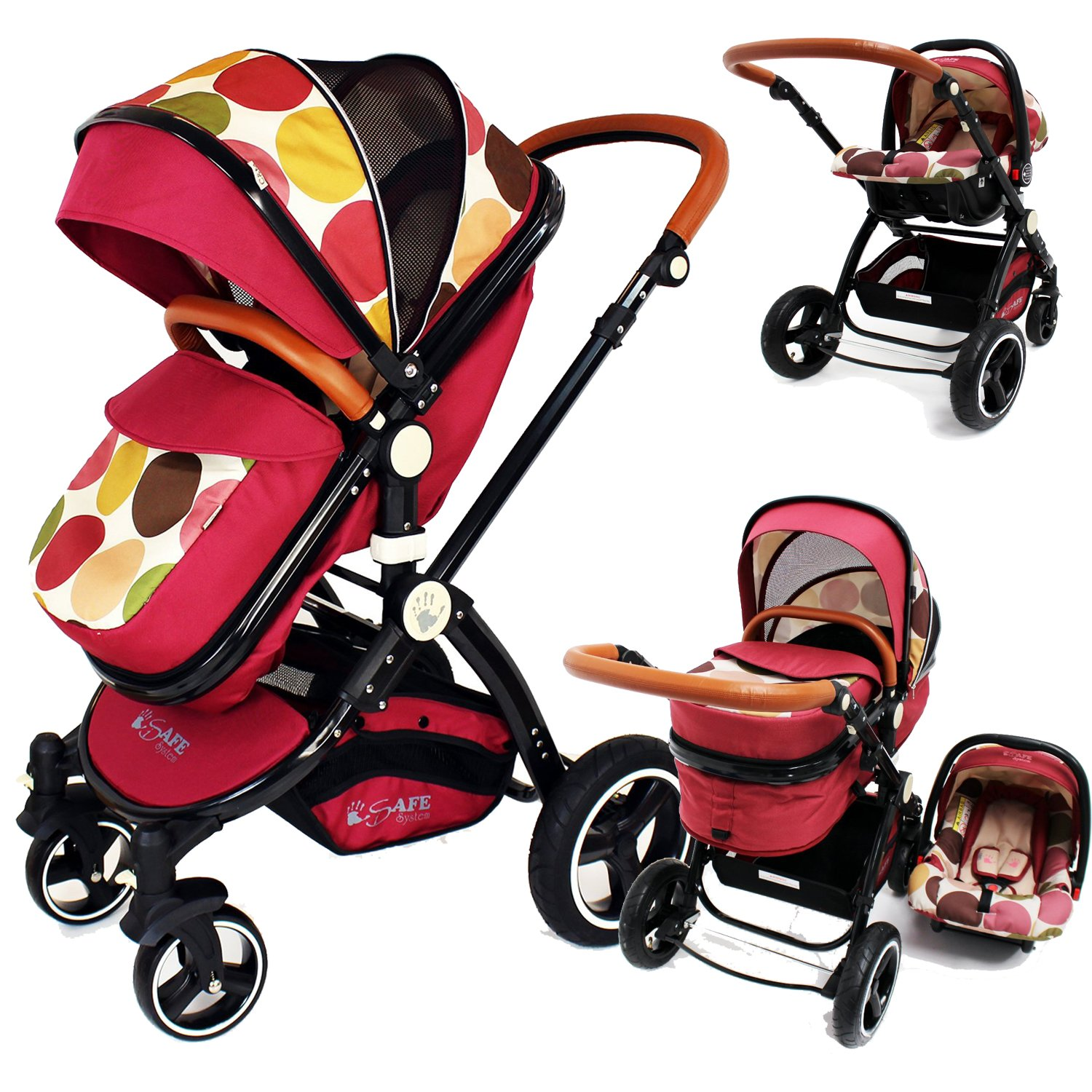 i-Safe System - C&M Trio Travel System Pram & Luxury Stroller 3 in 1