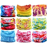 KALILY Headwear Head Wrap Sport Headband Sweatband – 200+ Patterns Magic Scarf Camping, Running, Cycling, Fishing etc (Color: M Pack 9PCS, Tamaño: Medium)