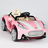 Maserati Style 12V Kids Ride On Car Electric Powered Wheels Remote Control Pink (Color: Pink)