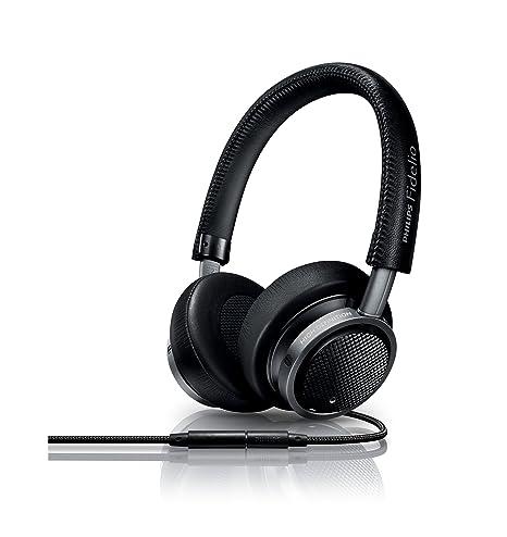 Philips Fidelio M1MKIIBK/00 Casque Hi-Res Haut de gamme supra auriculaire avec microphone et bouton de prise d'appel intégré Noir