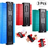 3 Pieces Contour Gauge Duplicator Plastic Contour Gauge Profile Multi-functional Shaping Measure Ruler for Precise Measurement Tiling Laminate Wood Marking Tool (5 Inch, 10 Inch, Assorted Color) (Color: Assorted Color, Tamaño: 5 Inch, 10 Inch)