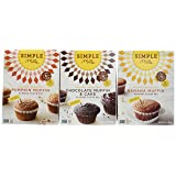 Simple Mills Almond Flour Mix Variety Pack: (1) Banana Muffin & Bread, (1) Chocolate Muffin & Cake, (1) Pumpkin Muffin & Bread, Naturally Gluten Free