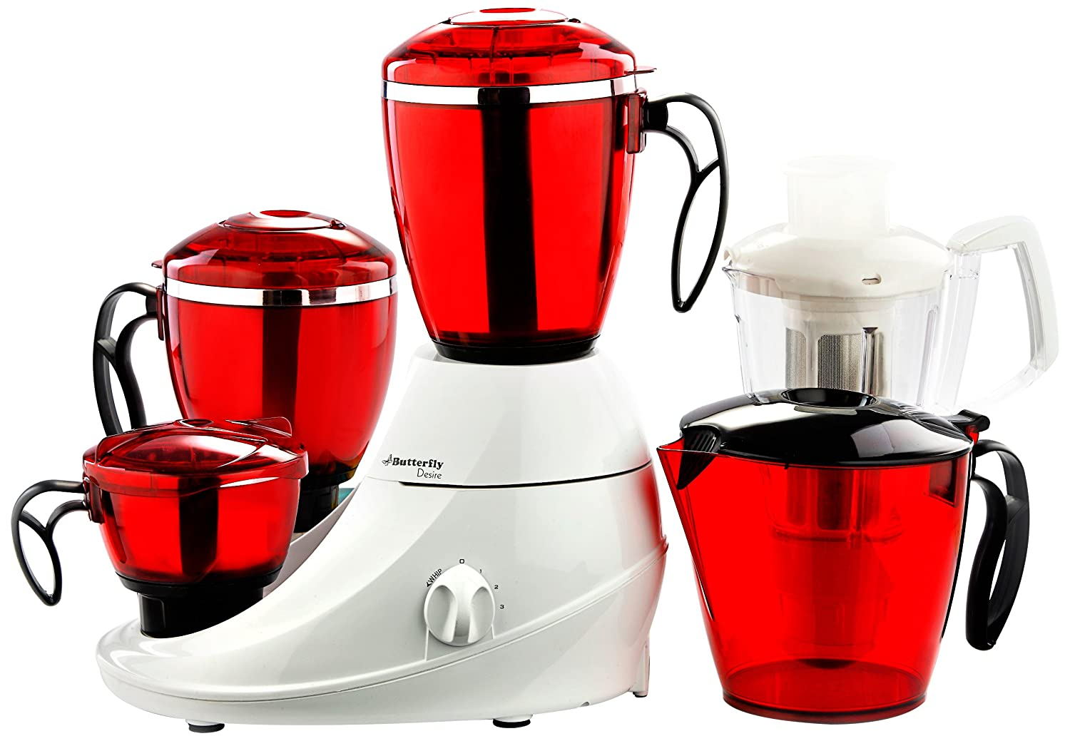 Coloured Kitchen Appliances Buy Butterfly Desire Mixer Grinder With 4 Jars Red And White