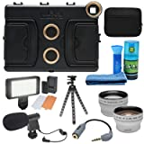Melamount MM-IPADAIR2 Video Stabilizer Pro Multimedia Rig for Apple iPad Air 2 with LED Light + Microphone + Tripod + Wide/Tele Lens Kit