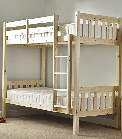 Bunk Bed 2FT 6 small single Bunkbed - CAN BE USED BY ADULTS - with TWO sprung mattresses