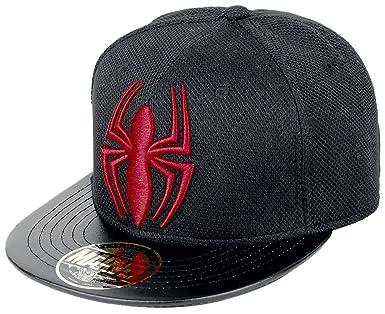 Spider-man Red Logo Casquette Snapback noir