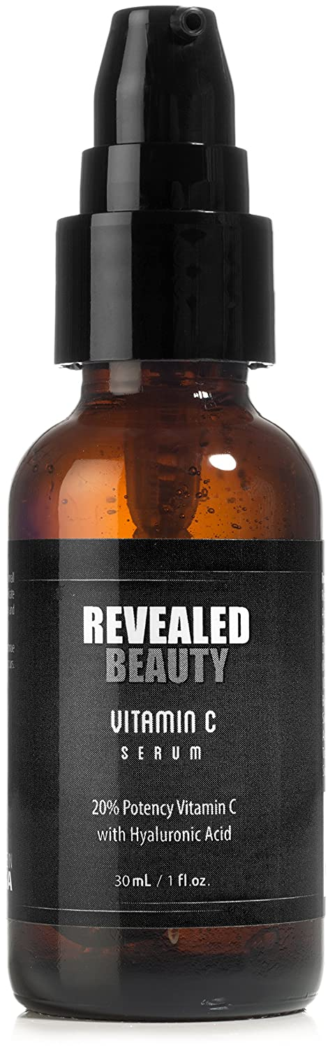 Vitamin C Serum w/ Hyaluronic Acid By Revealed Beauty - Eliminate Dark Spots & Wrinkles By Boosting Collagen & Rejuvenating Your Skin
